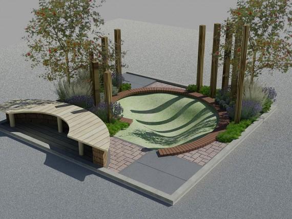 Ontwerp Kleine Tuin : Bladgoud tuinen